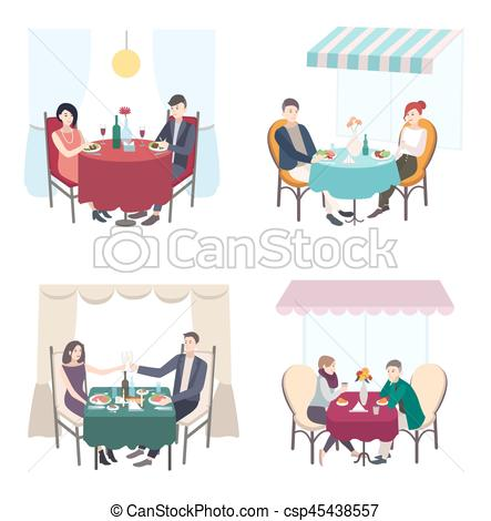 Date clipart cafe Restaurant dinner dinner cafe Romantic