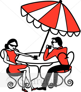 Date clipart cafe Scene Umbrella  Clipart Coffee