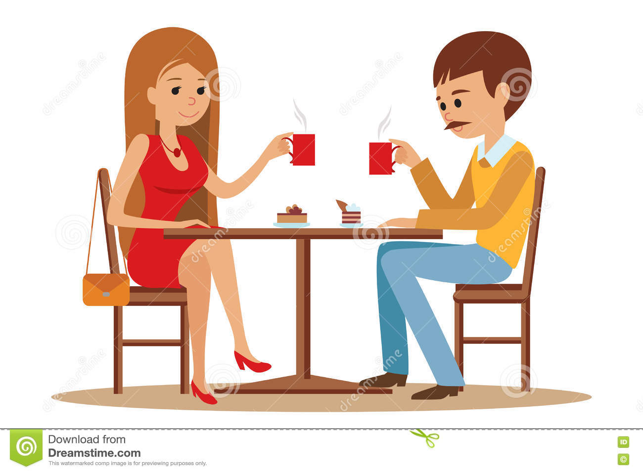 Date clipart cafe In collection Cafe date Couple