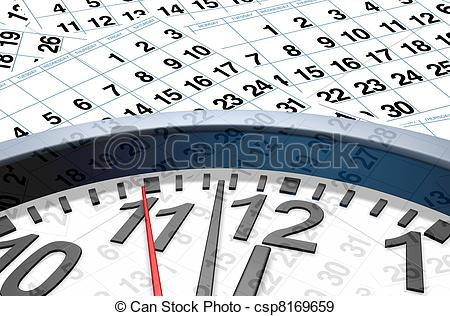 Date clipart calendar time And Illustration Stock calendar Time