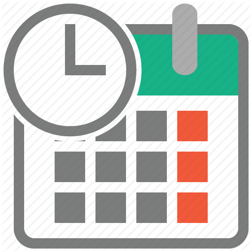 Date clipart calendar time Clock Icon timetable icon time