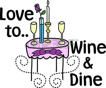 Date clipart candlelight dinner #7
