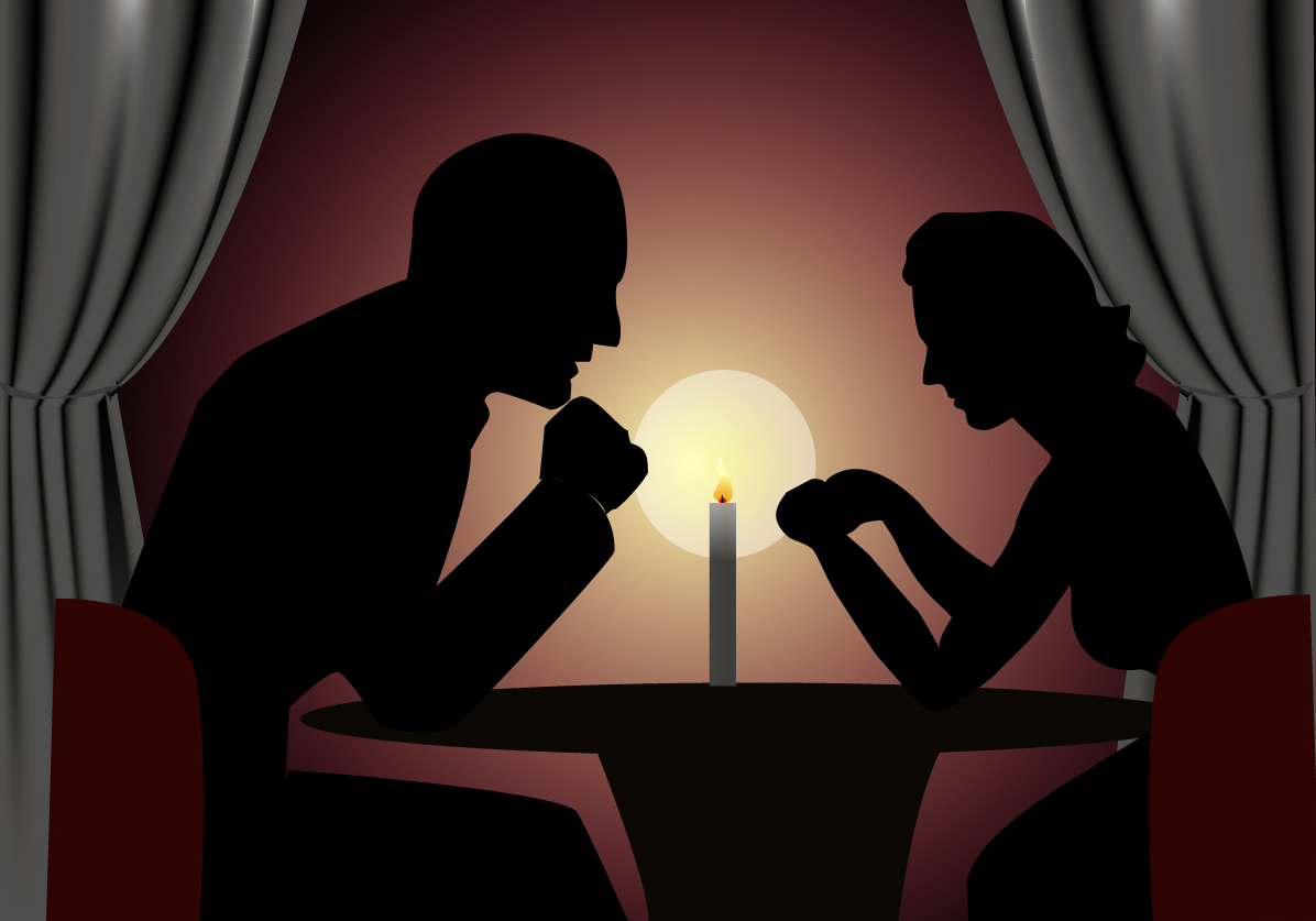 Date clipart candlelight dinner #6