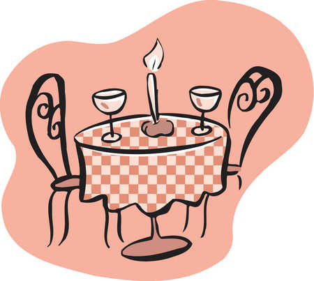 Date clipart candlelight dinner #5