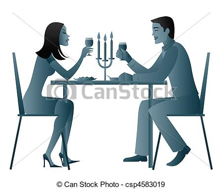 Date clipart candlelight dinner #3