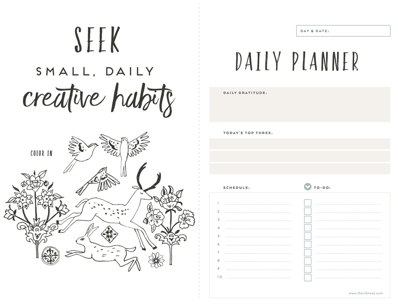 Date clipart daily planner Planner clip Nest Ink The