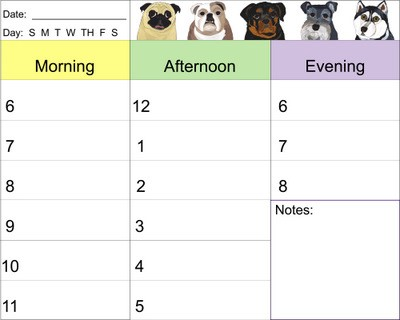 Date clipart daily planner Dog Document Planner Daily Art