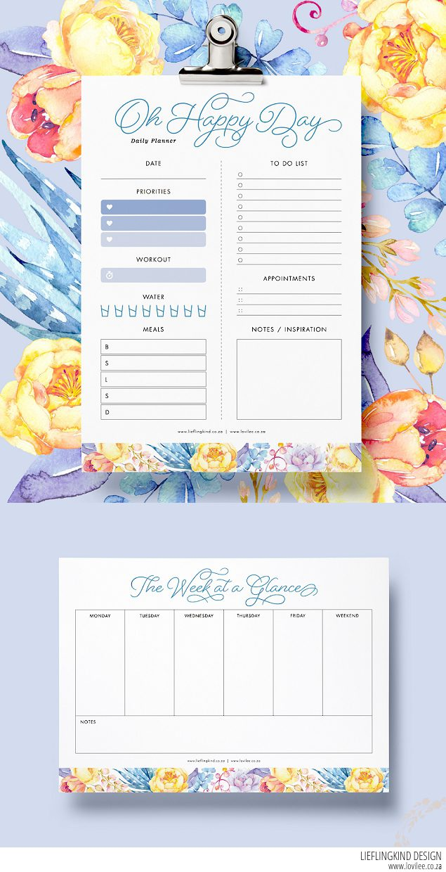 Date clipart daily planner And weekly planner free weekly