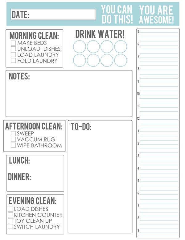 Date clipart daily planner FREE Schedule Will That Printables