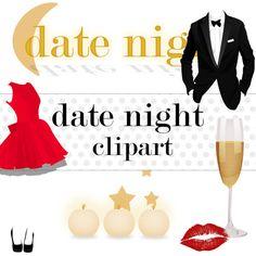 Date clipart date night Scrapbooking Wedding graphics Use art