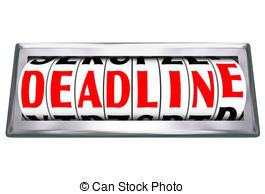 Date clipart deadline Countdown Word Time Caution Due