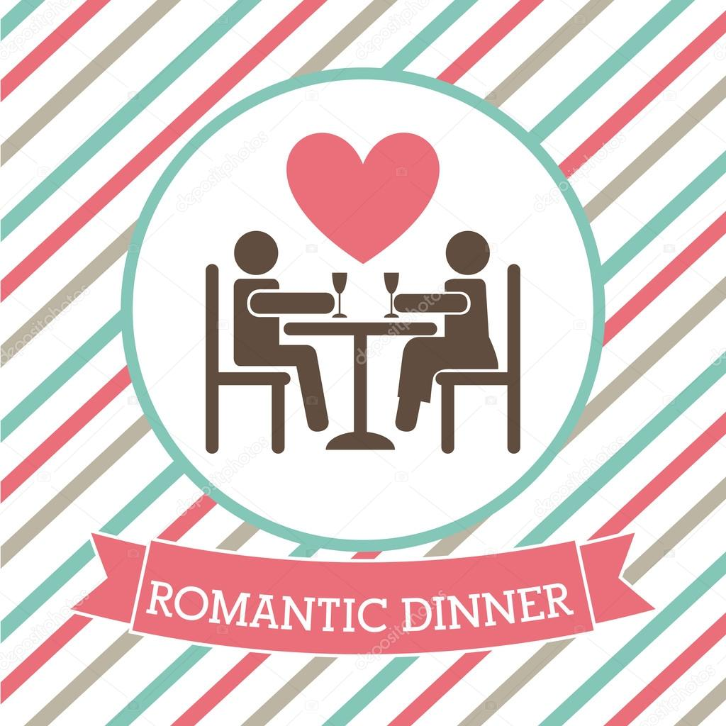 Date clipart dinner date Romantic Clipart Date  Dinner