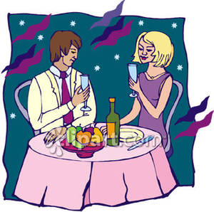 Date clipart dinner date And and Date Dinner a