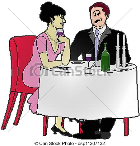 Date clipart dinner date Csp11307132 date Dinner of Illustration
