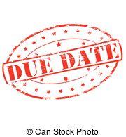 Date clipart due date Date 495 date due free