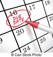 Date clipart due date Art Clip Clipart Due Date