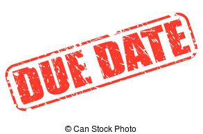 Date clipart due date  with Vector Art Due