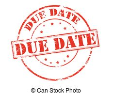 Date clipart due date Due Clipart due text royalty