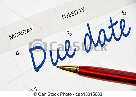 Date clipart due date  csp13015683 Pictures csp13015683 Due