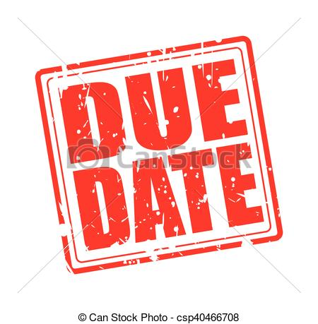 Date clipart due date  white Clipart Vector DUE