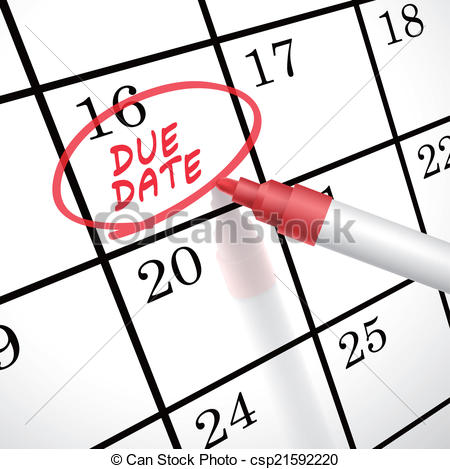 Date clipart due date On circle a on calendar
