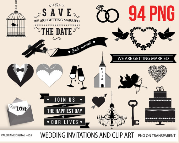Date clipart join us From digital art the Etsy