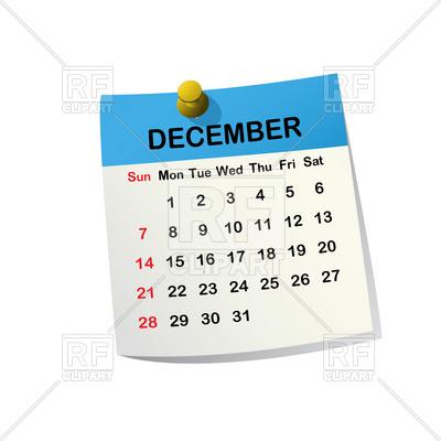 Date clipart kid calendar Collections clipart calendar December BBCpersian7