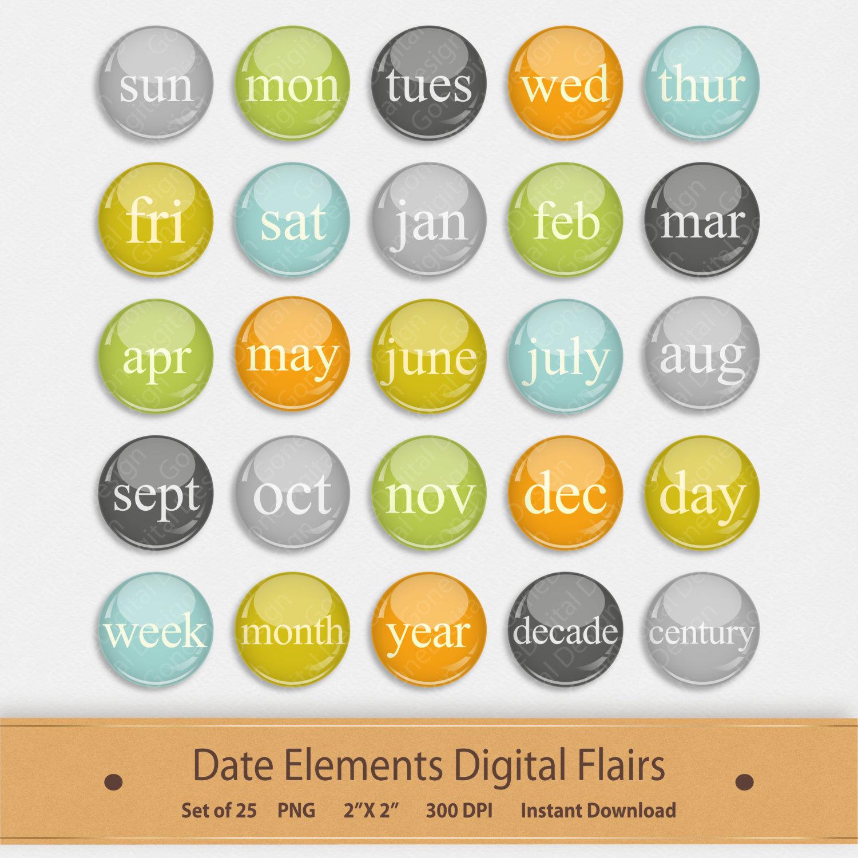 Date clipart next week File digital This Scrapbook Date