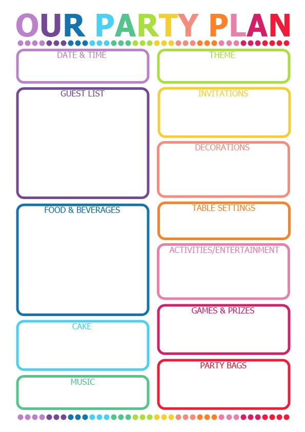 Date clipart party planning Will printable this handy Pinterest