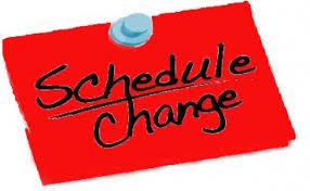 Date clipart schedule change #5