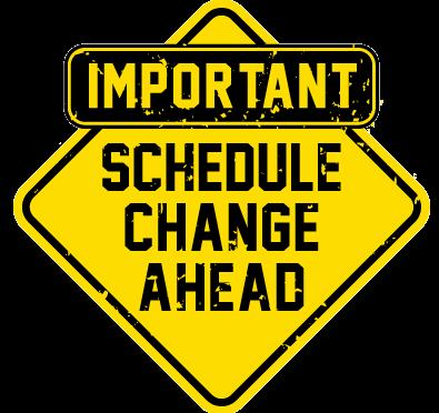 Date clipart schedule change #13
