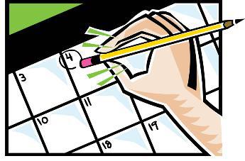 Date clipart schedule change #2