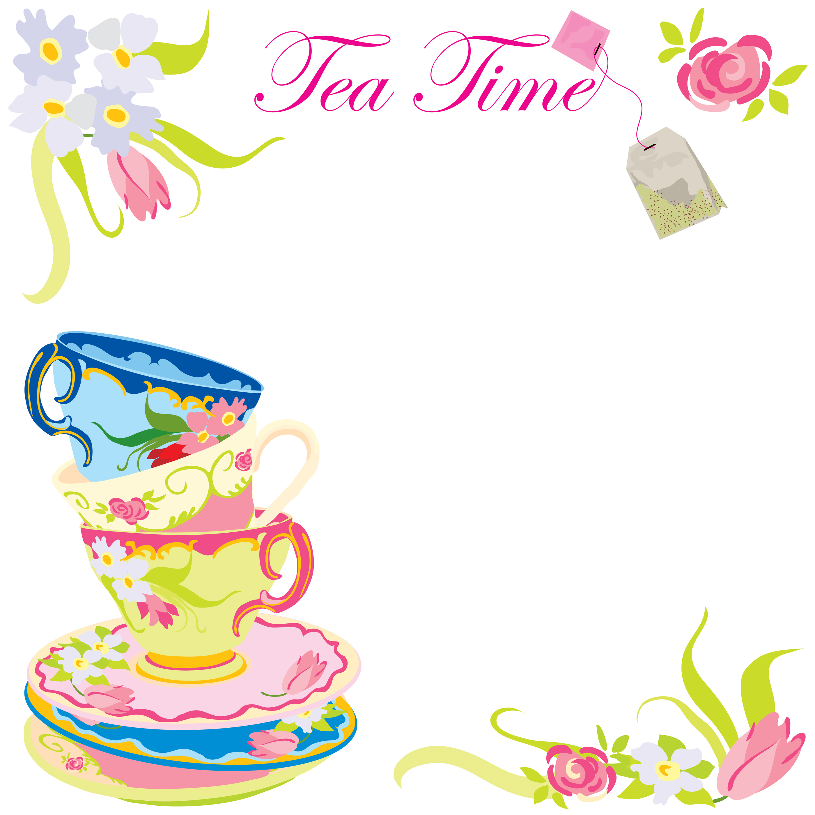 Tea Party clipart person at party As invitatios having as Party