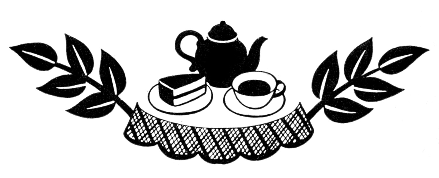 Retro clipart dinner party #13