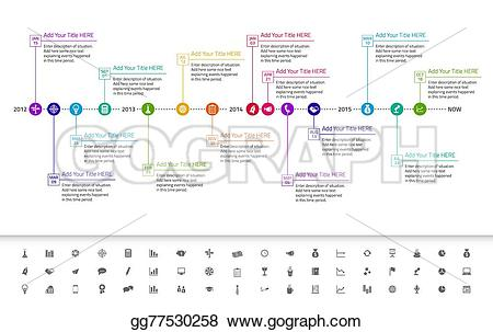 Date clipart timeline Timeline colors Clipart with EPS