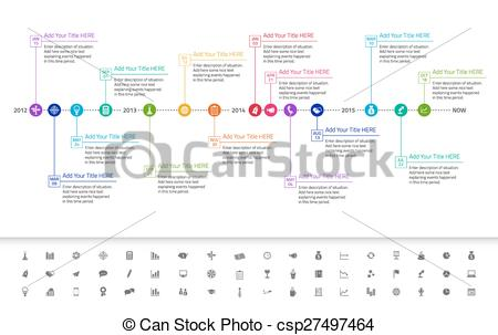 Date clipart timeline Exact rainbow of and flat