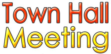 Date clipart town hall meeting  Hall Town Parish Meeting
