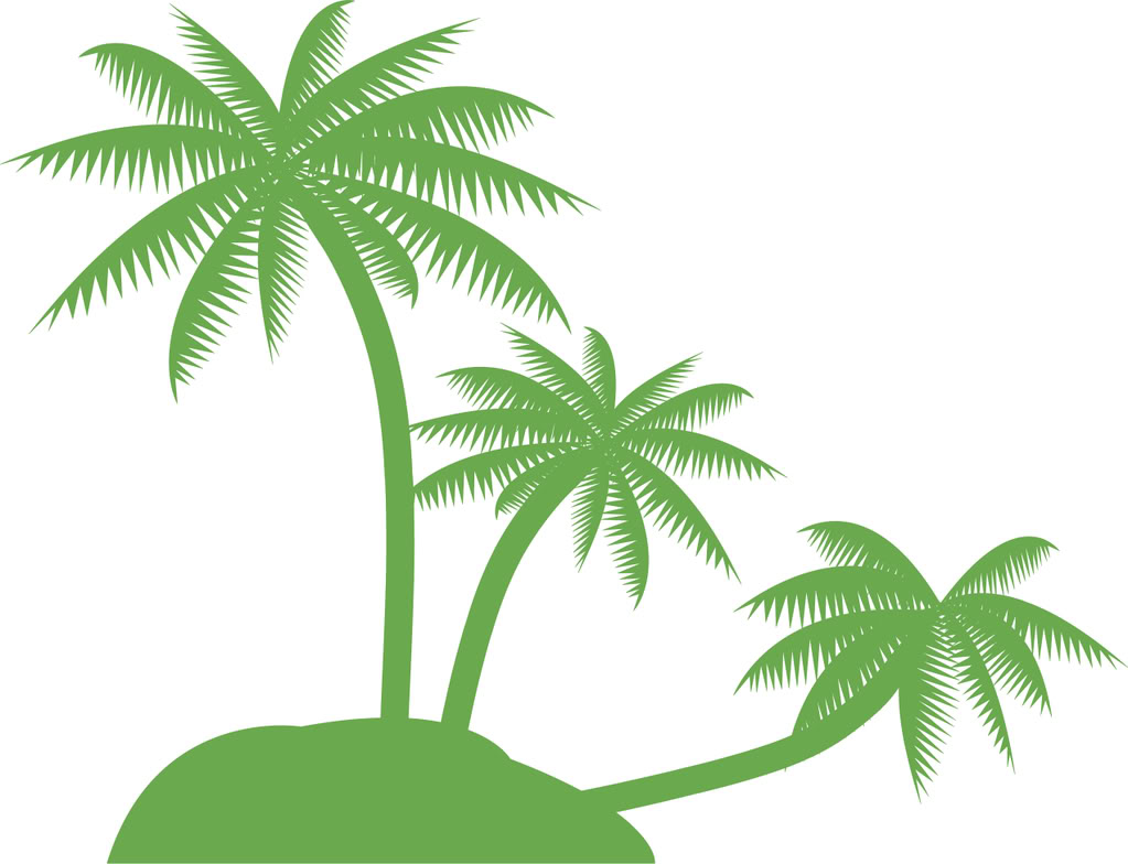 Palm Tree clipart curved  clip image Tree Pam