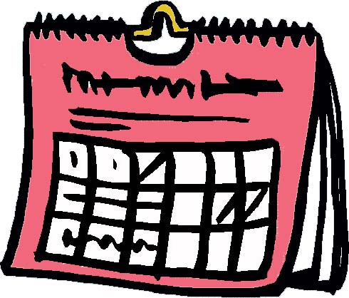 Calendar clipart scheduling Art Clip Weekly Cliparts Free