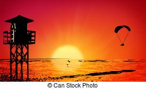 Dawn clipart Of Dawn ocean csp0399391 Art