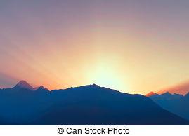 Dawn clipart Above mountain dawn Dawn