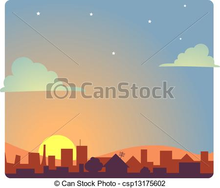 Dawn clipart Clipart of of a at