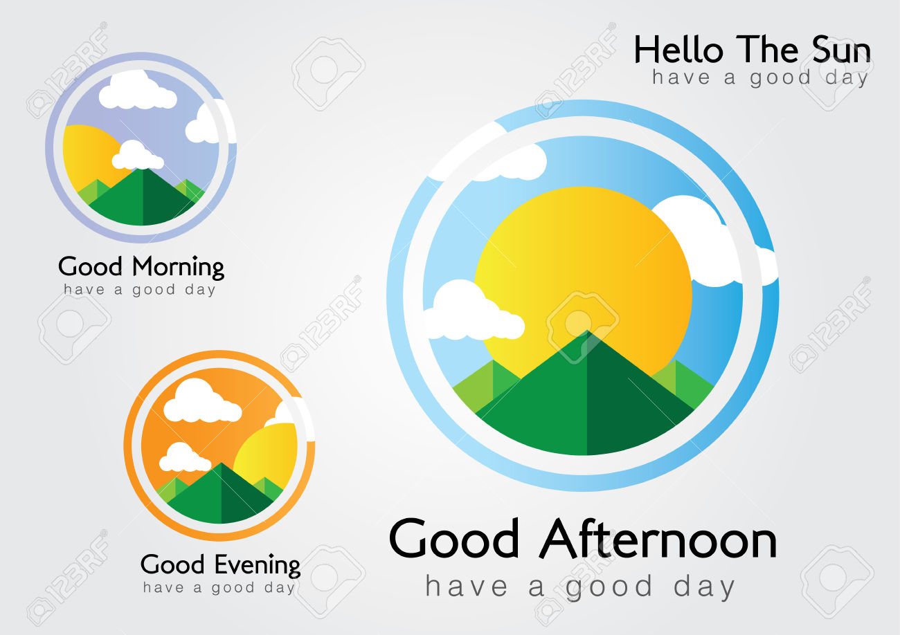 Morning clipart morning afternoon evening Morning Shadow afternoon Suns clipart