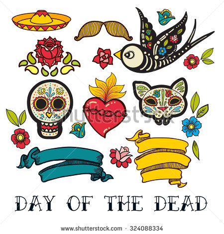 Day Of The Dead clipart Mexican Mexican Shutterstock Vector Folk