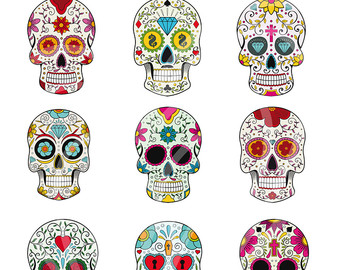 Day Of The Dead clipart Colorful of Etsy dead Art