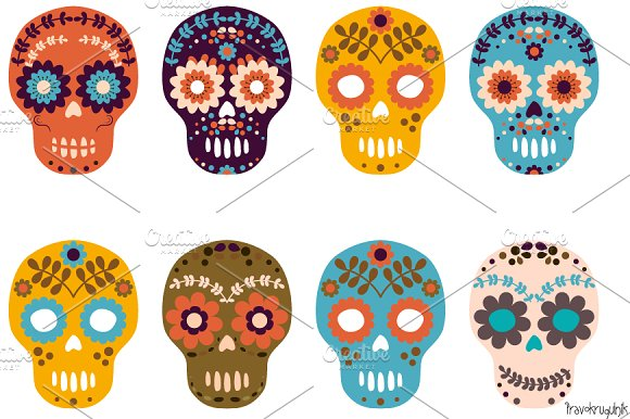 Day Of The Dead clipart Sugar Day  clipart of