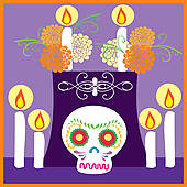Day Of The Dead clipart girly skull Zombie GoGraph Walking muertos Attack