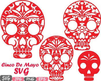 Day Of The Dead clipart cinco de mayo Mayo Fiesta by Clipart SVG