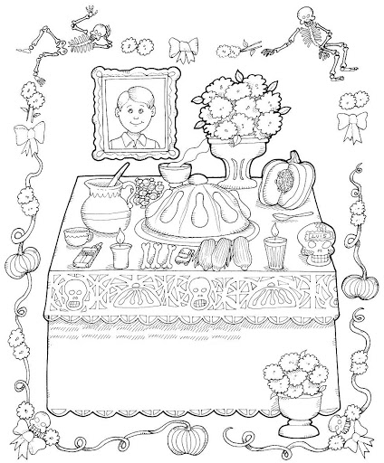 Day Of The Dead clipart coloring sheet Day  printable Pages of