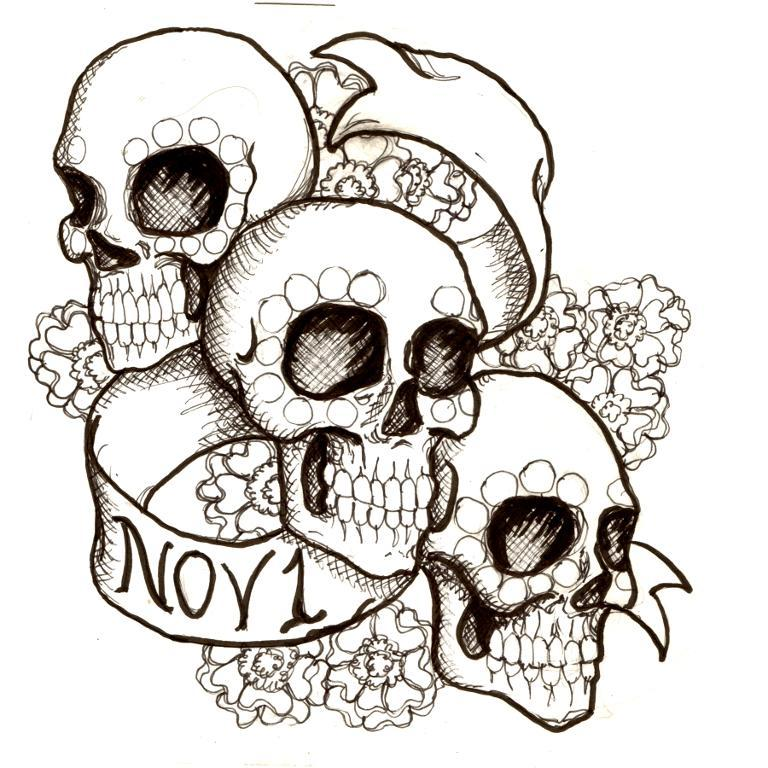 Day Of The Dead clipart coloring sheet Day Of Dead Day Day